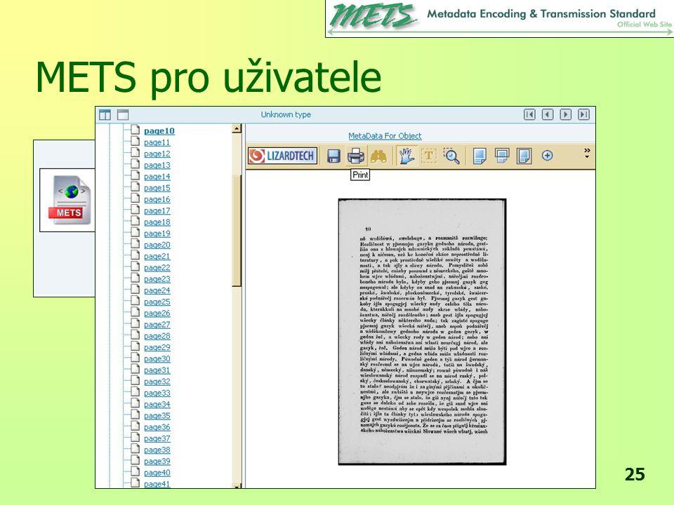 METS pro uživatele