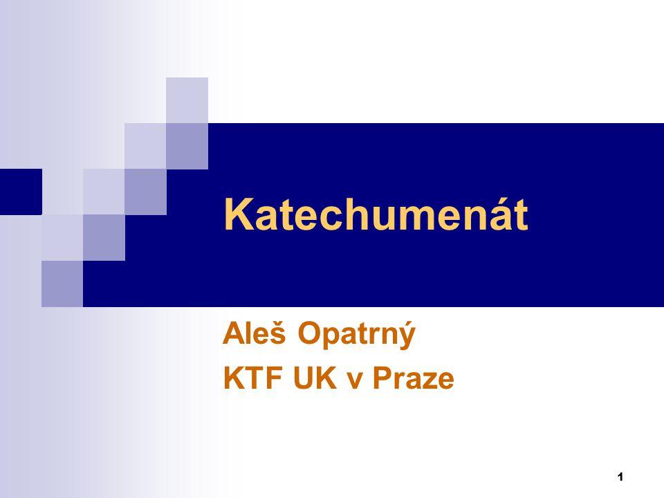 Aleš Opatrný KTF UK v Praze