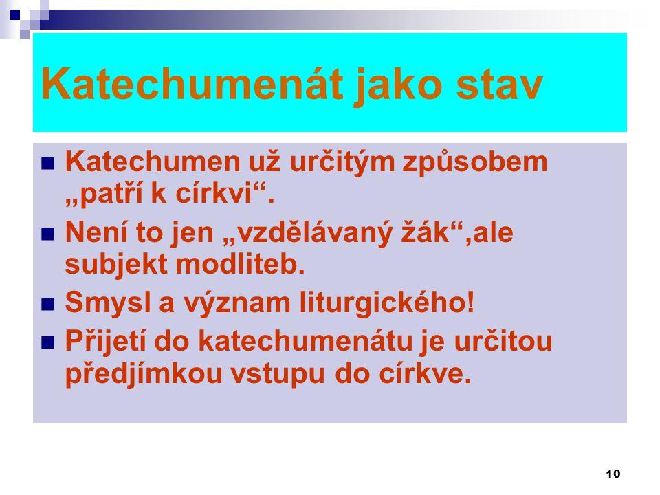 Katechumenát jako stav