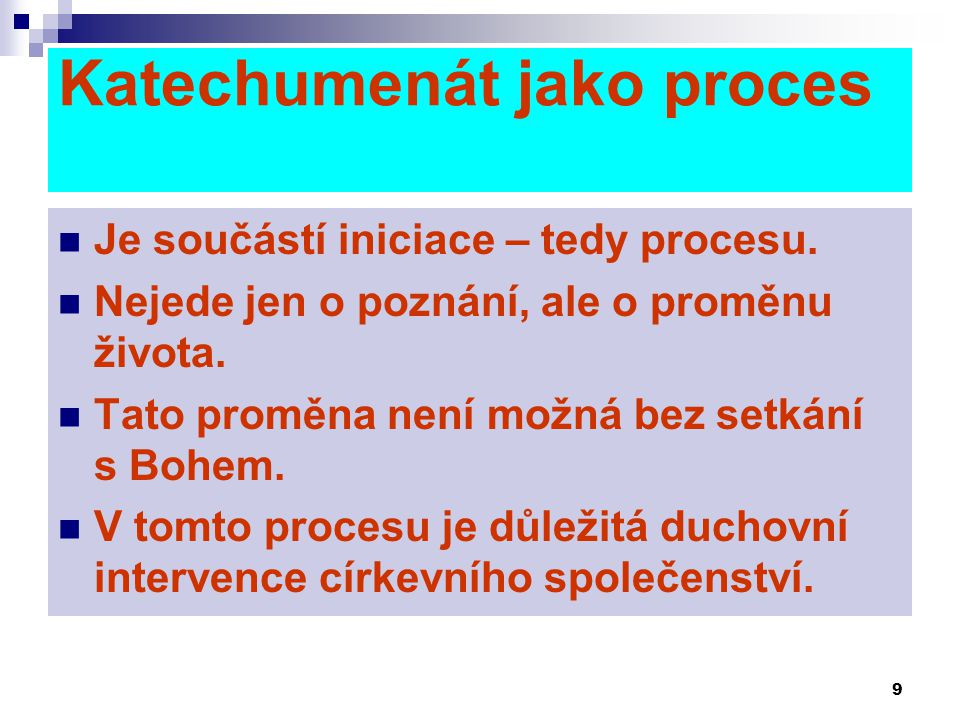 Katechumenát jako proces
