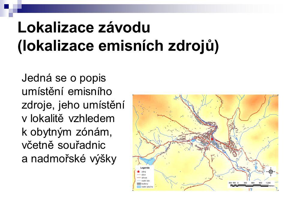Lokalizace závodu (lokalizace emisních zdrojů)