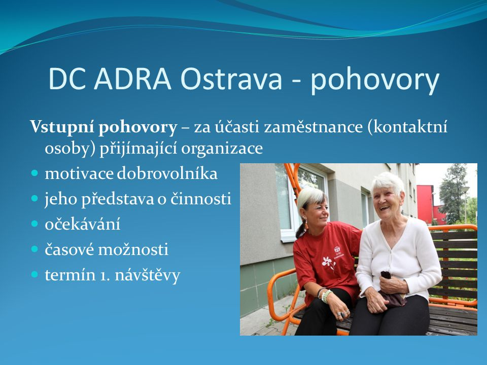 DC ADRA Ostrava - pohovory