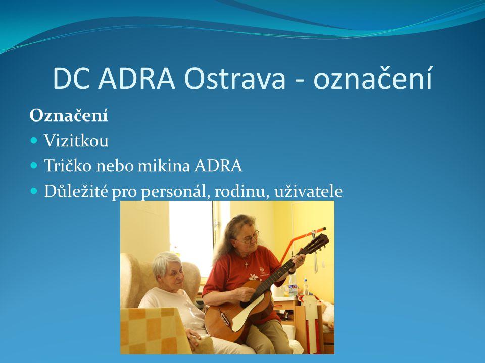 DC ADRA Ostrava - označení