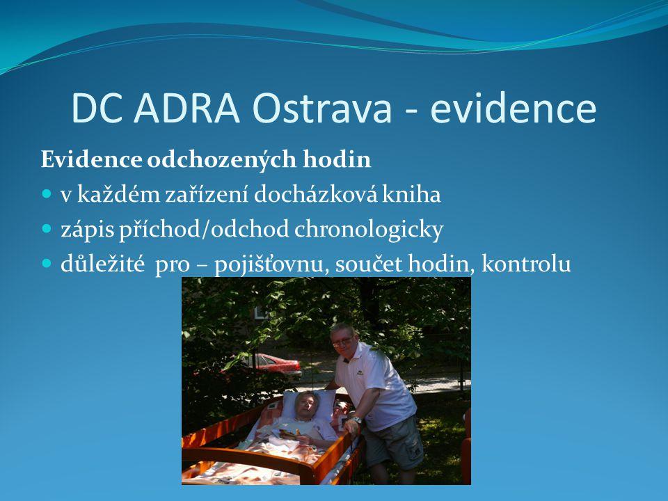 DC ADRA Ostrava - evidence