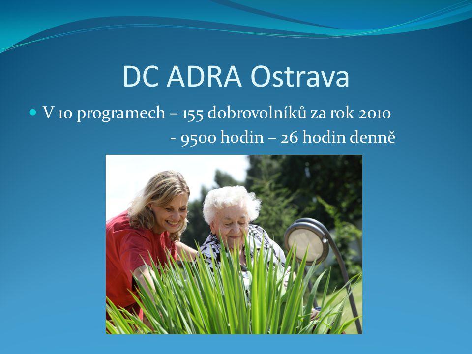 DC ADRA Ostrava V 10 programech – 155 dobrovolníků za rok 2010