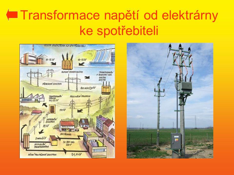 Transformace napětí od elektrárny ke spotřebiteli