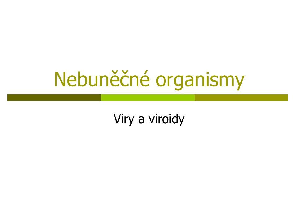 Nebuněčné organismy Viry a viroidy