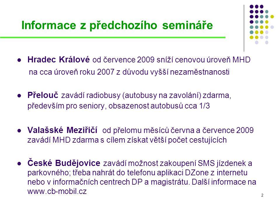 Informace z předchozího semináře