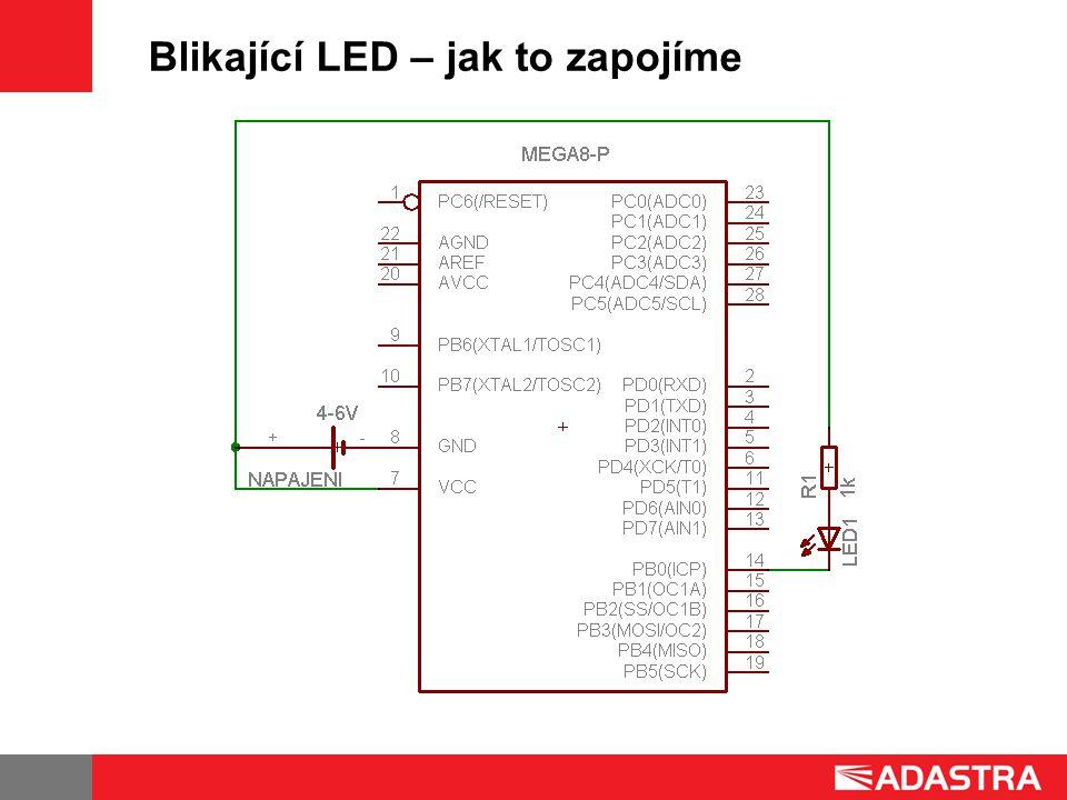 Blikající LED – jak to zapojíme