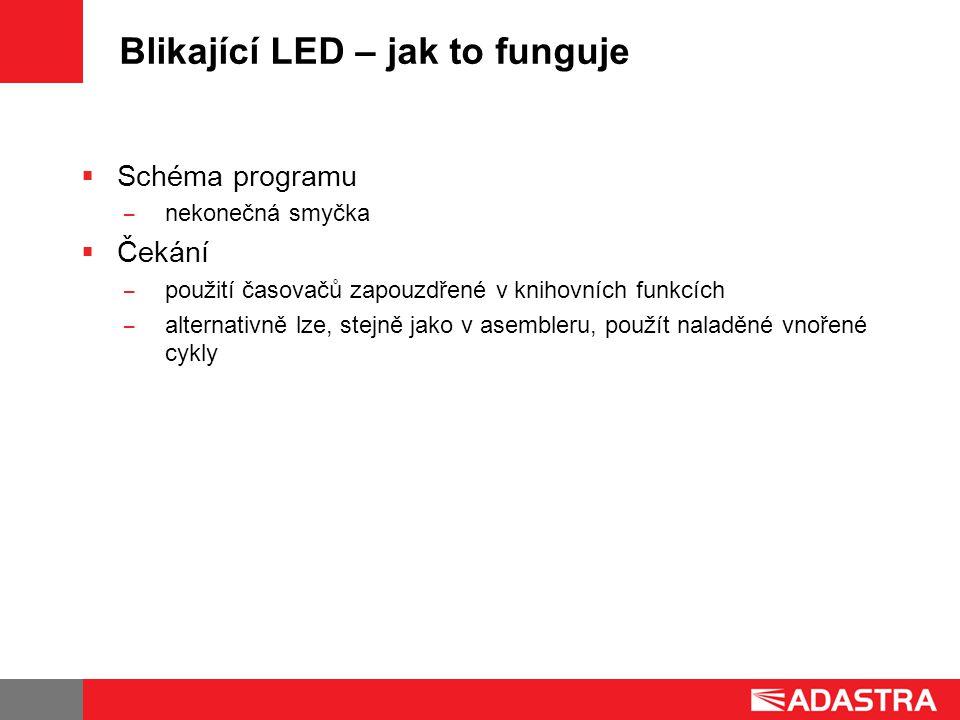 Blikající LED – jak to funguje