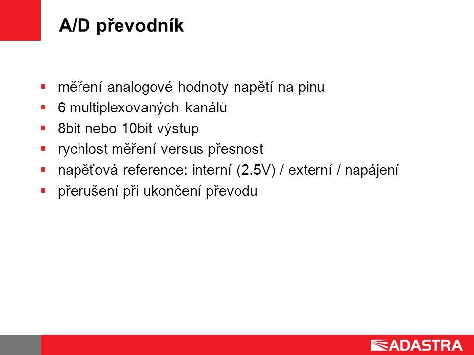 A/D převodník měření analogové hodnoty napětí na pinu