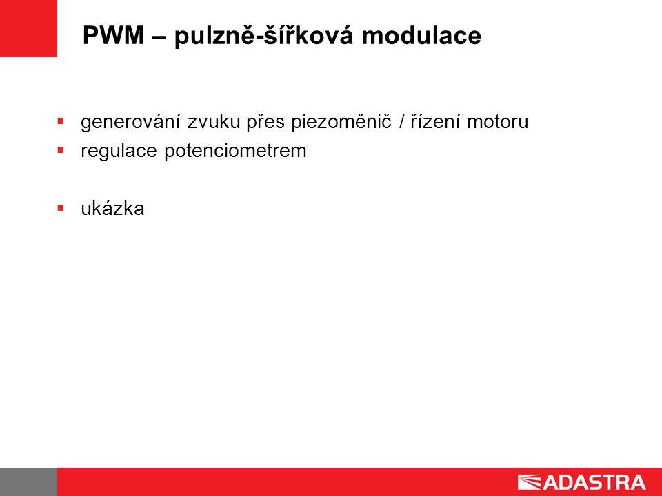 PWM – pulzně-šířková modulace