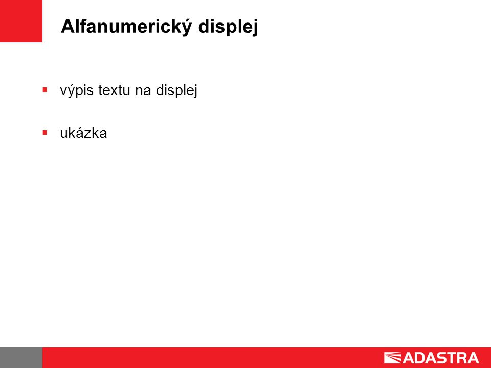 Alfanumerický displej