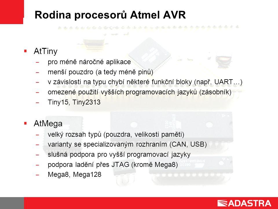 Rodina procesorů Atmel AVR