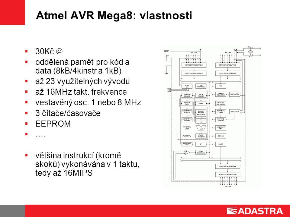 Atmel AVR Mega8: vlastnosti