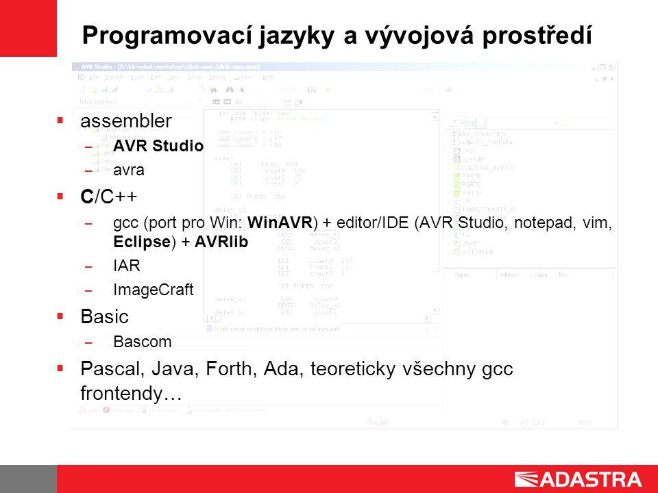 Programovací jazyky a vývojová prostředí