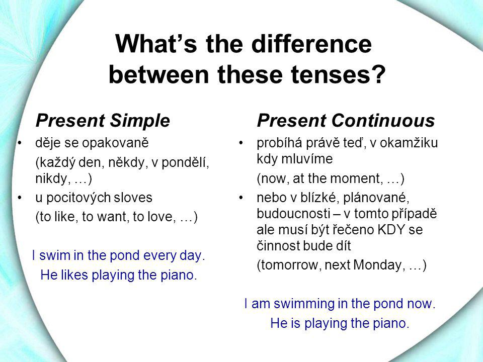 What's the difference between these tenses