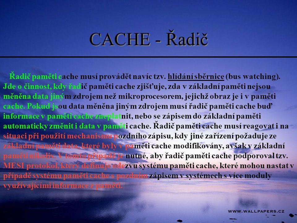 CACHE - Řadič