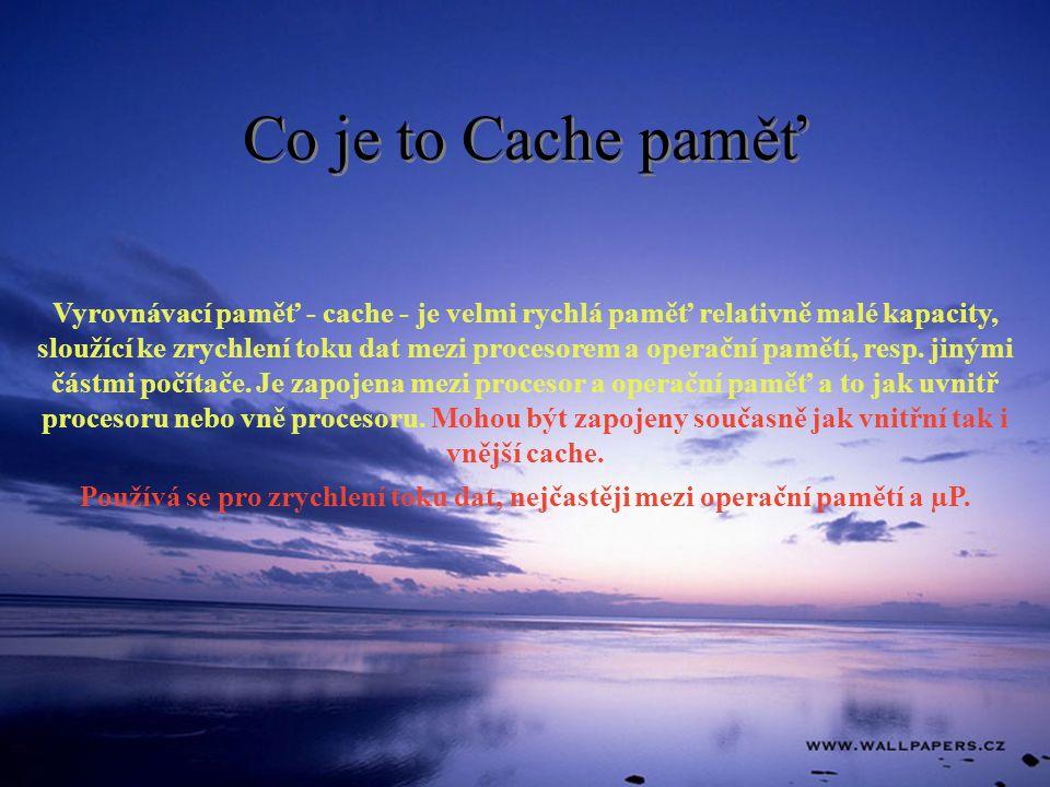 Co je to Cache paměť