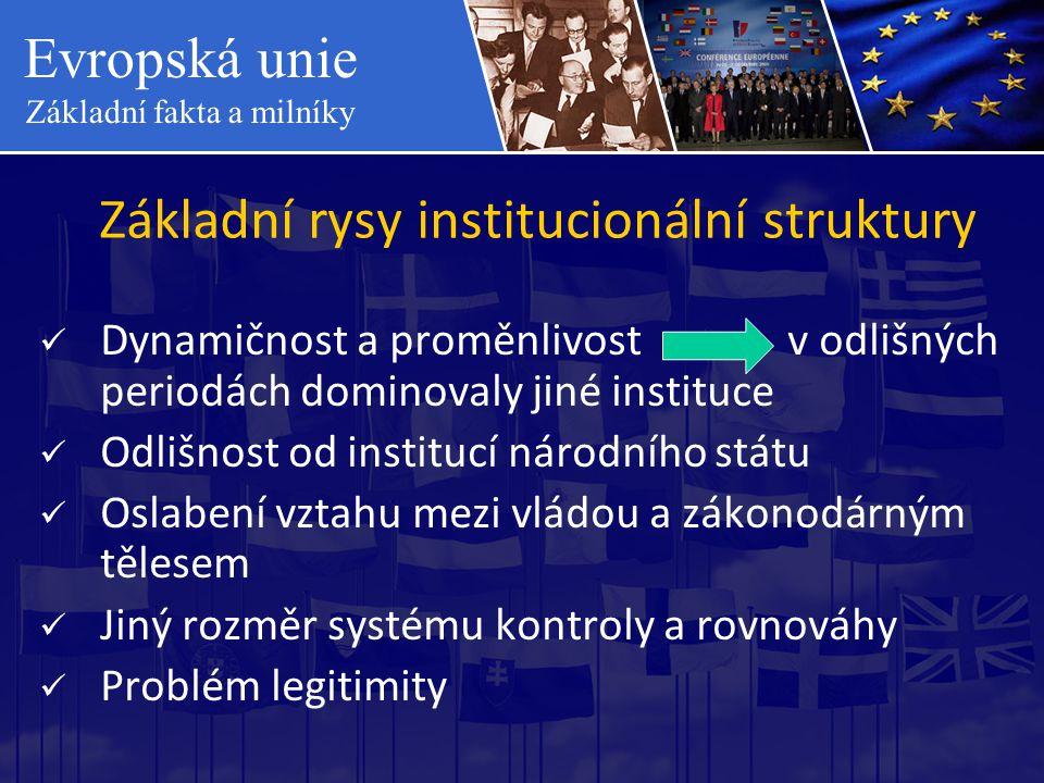 Základní rysy institucionální struktury