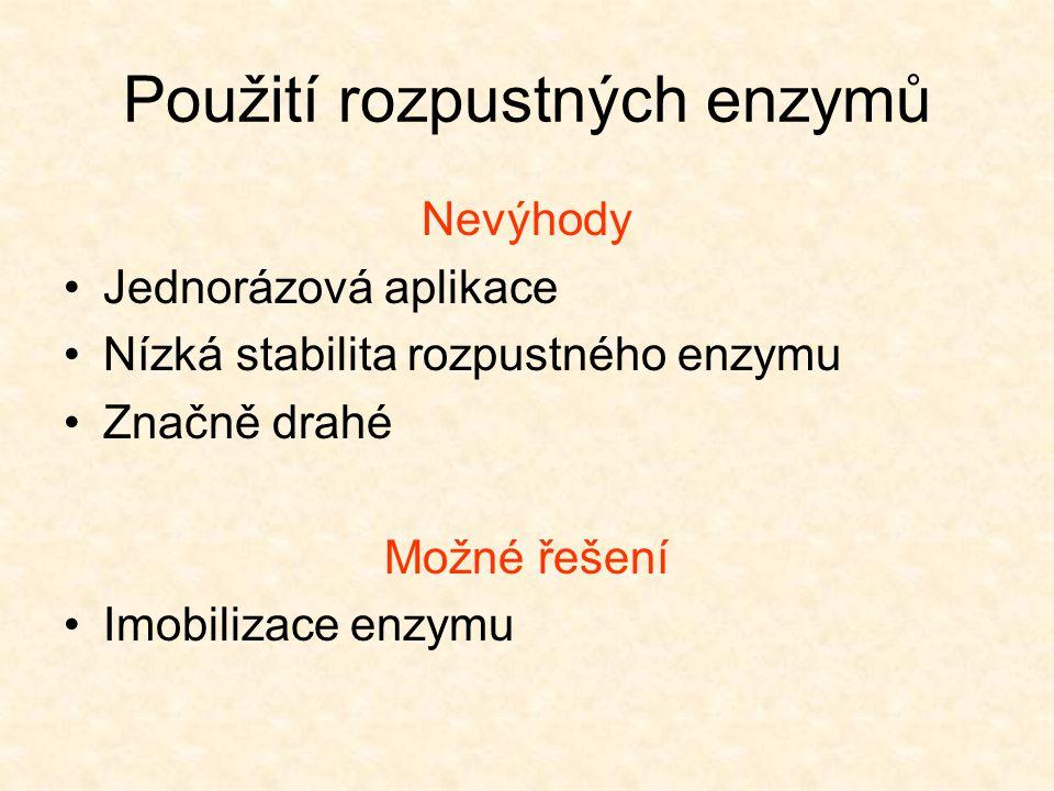 Použití rozpustných enzymů