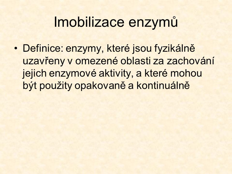 Imobilizace enzymů