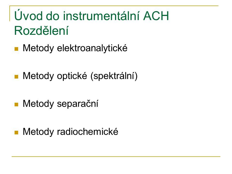 Úvod do instrumentální ACH Rozdělení