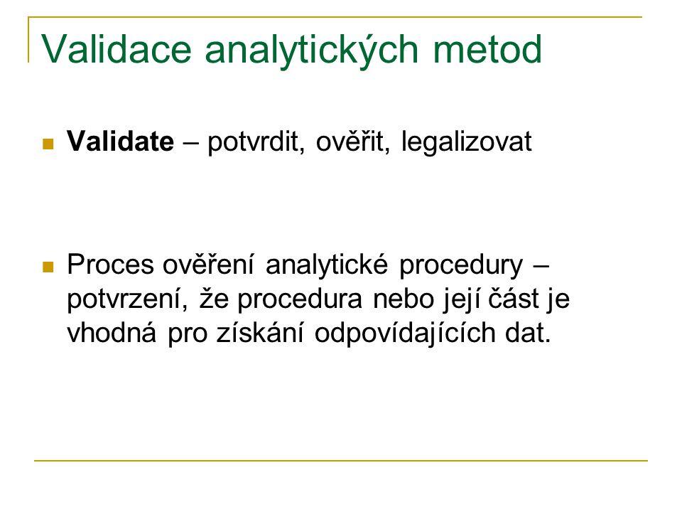 Validace analytických metod