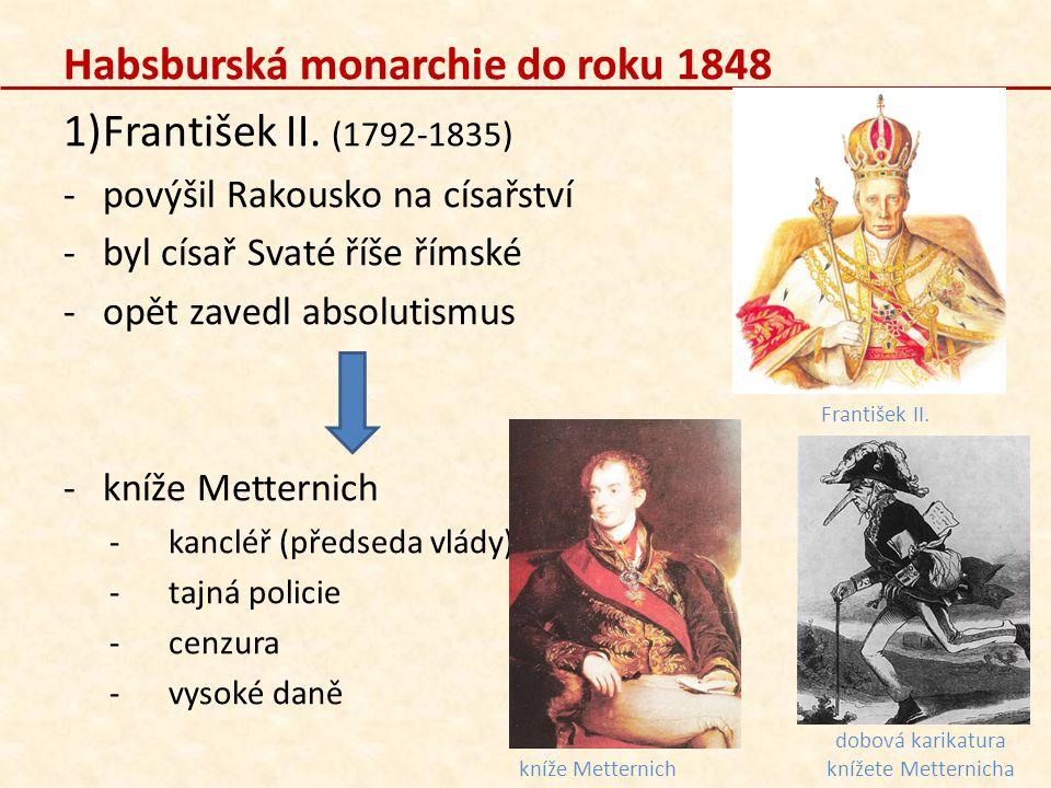 dobová karikatura knížete Metternicha