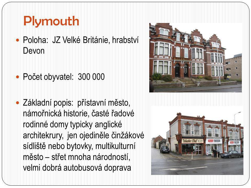 Plymouth Poloha: JZ Velké Británie, hrabství Devon