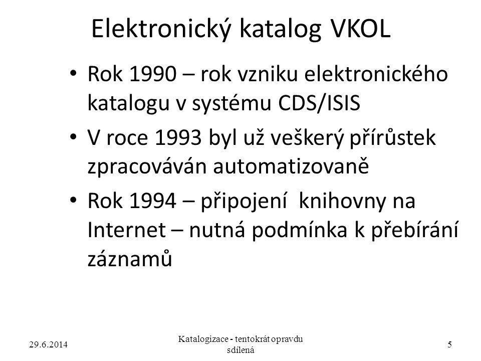 Elektronický katalog VKOL