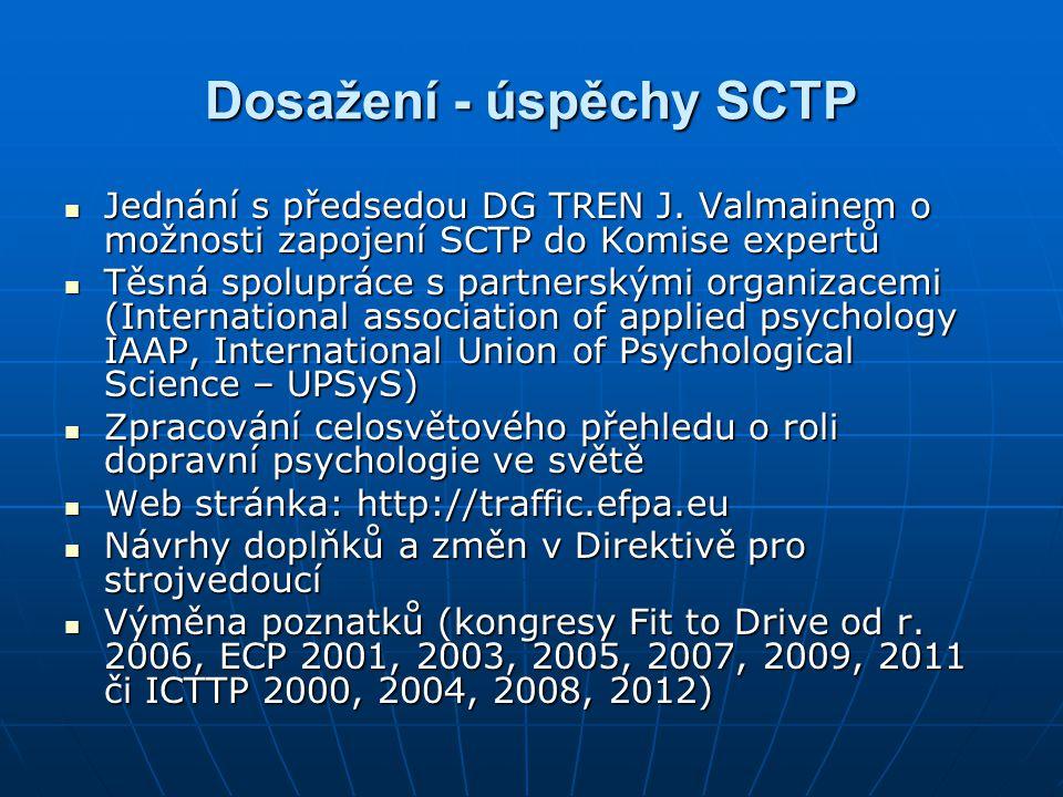 Dosažení - úspěchy SCTP