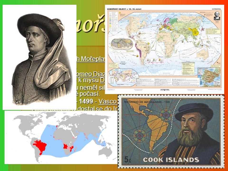 Zámořské objevy r. 1415 - Jindřich Mořeplavec v získává severoafrickou