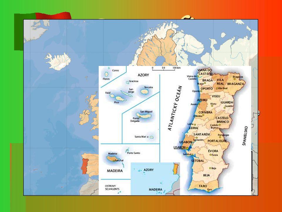 Geografie Přímořský stát rozkládající se na západě Pyrenejského poloostrova při pobřeží Atlantského Oceánu.
