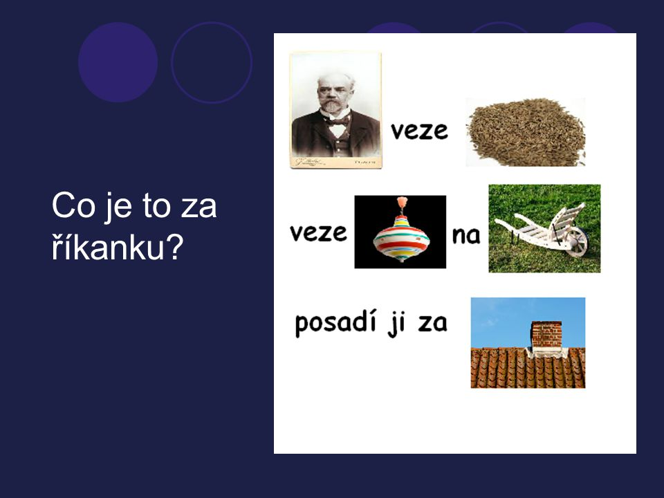 Co je to za říkanku