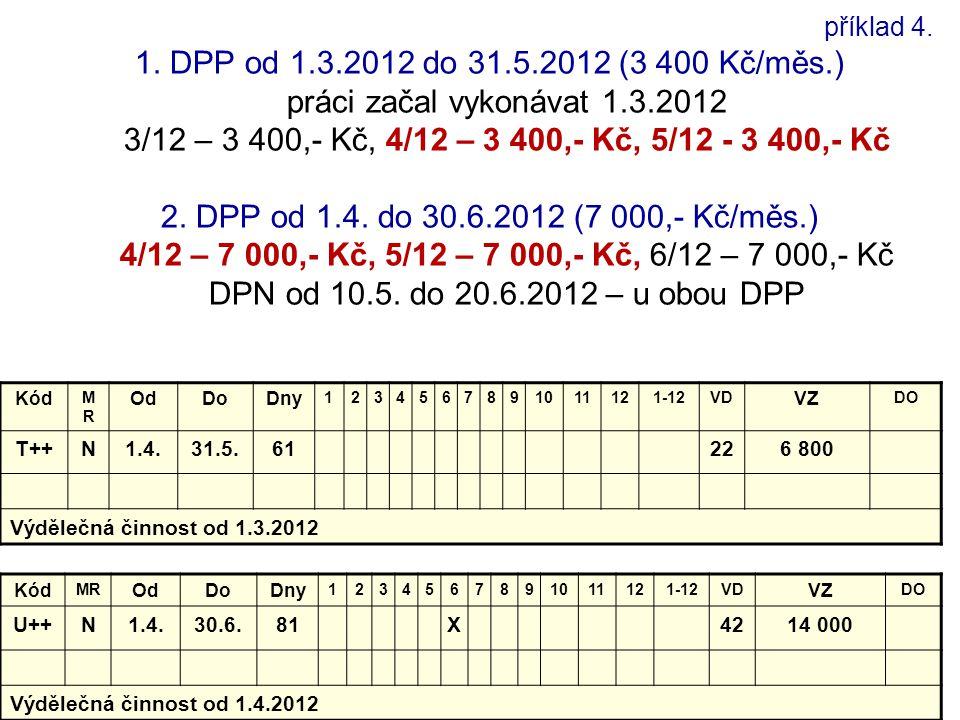 příklad 4. 1. DPP od 1. 3. 2012 do 31. 5. 2012 (3 400 Kč/měs