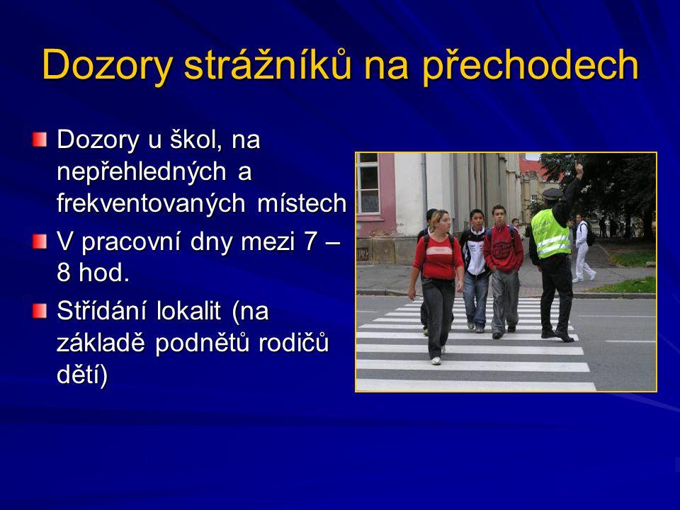 Dozory strážníků na přechodech