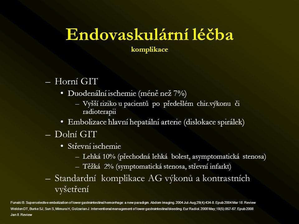 Endovaskulární léčba komplikace