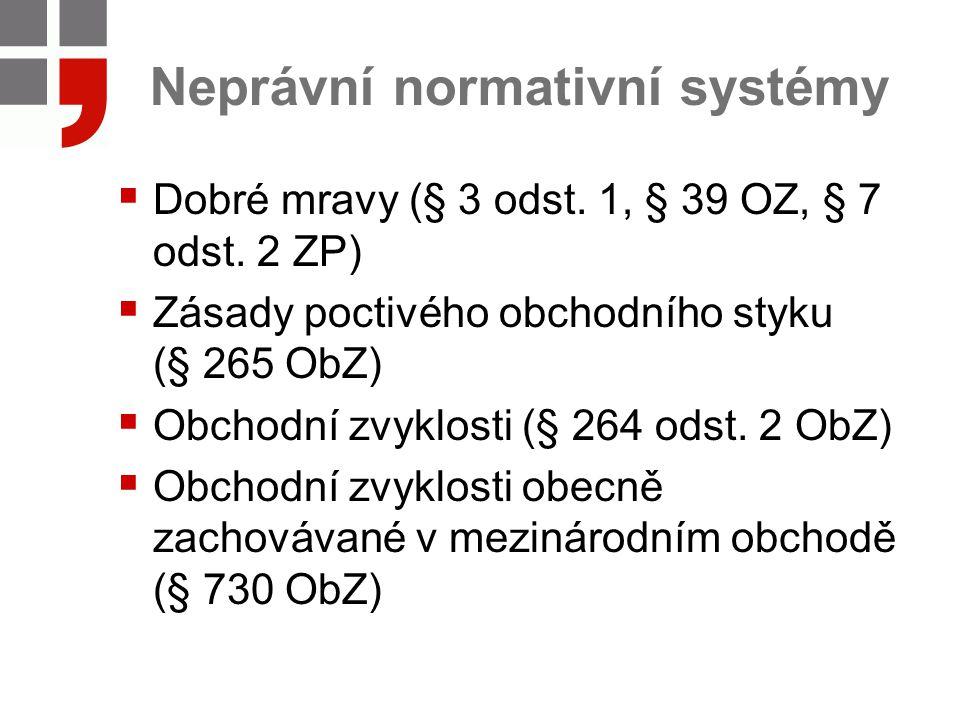 Neprávní normativní systémy