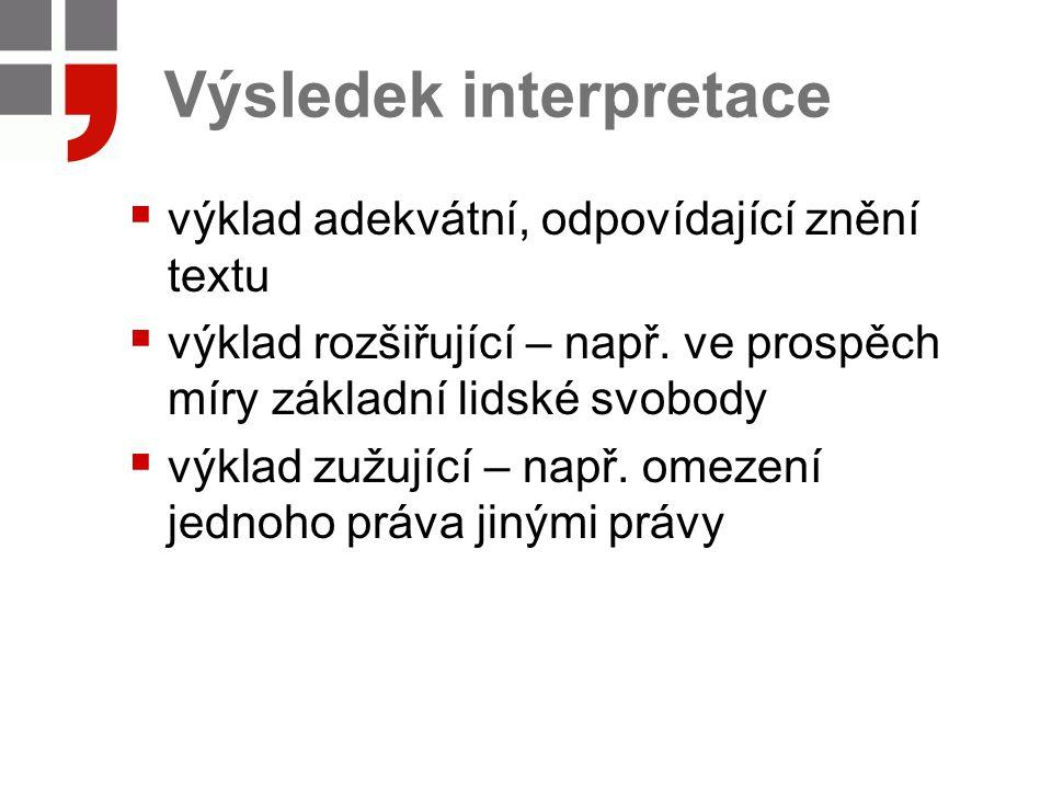 Výsledek interpretace