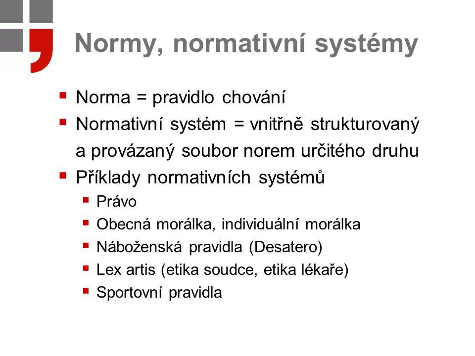 Normy, normativní systémy