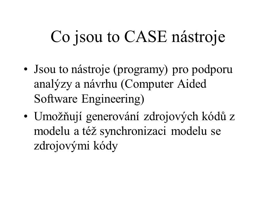 Co jsou to CASE nástroje