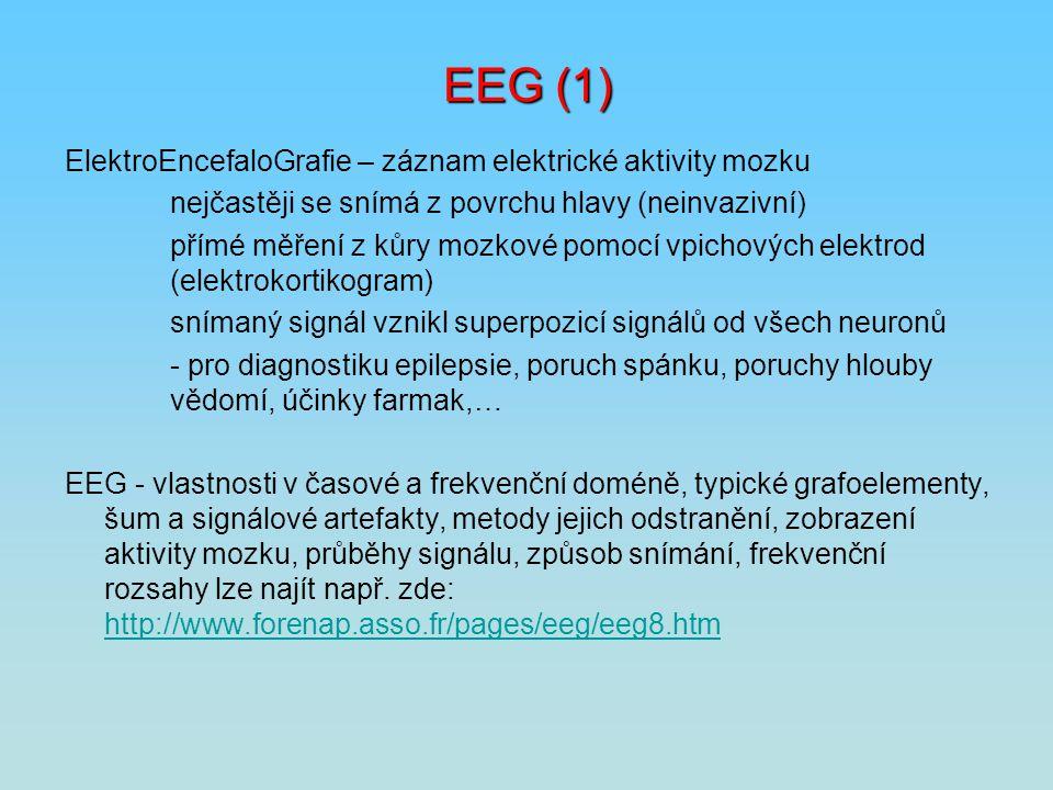 EEG (1) ElektroEncefaloGrafie – záznam elektrické aktivity mozku