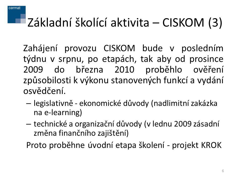 Základní školící aktivita – CISKOM (3)