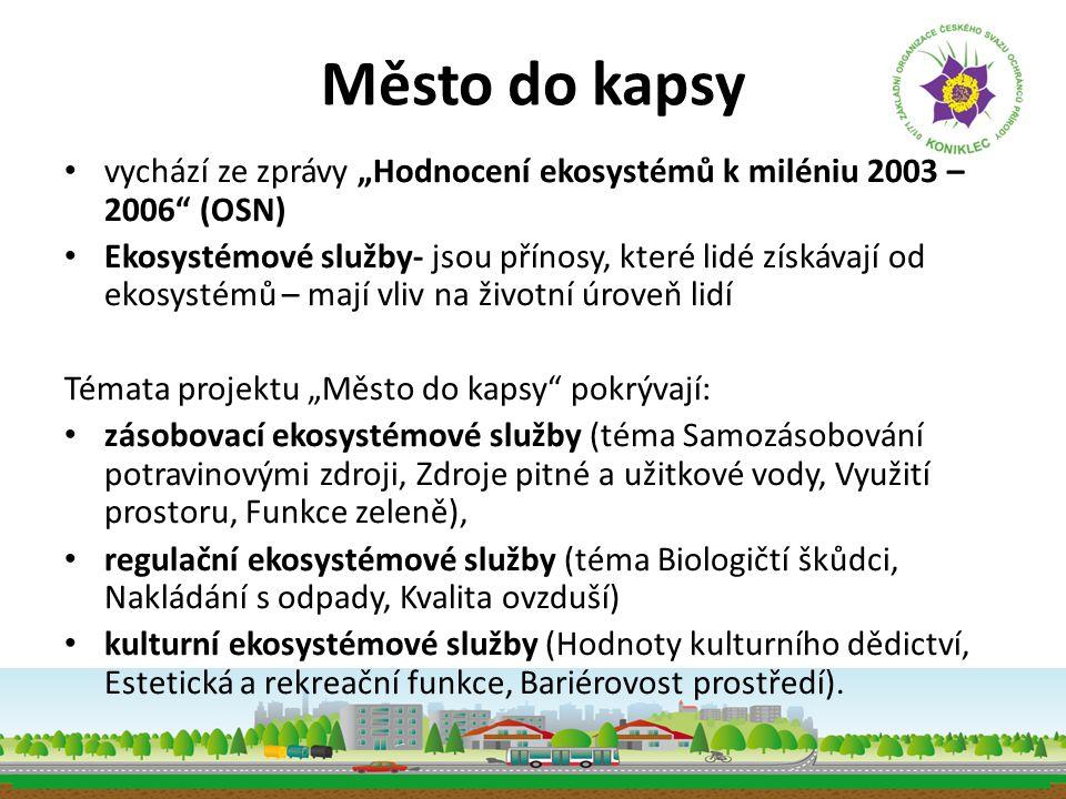 """Město do kapsy vychází ze zprávy """"Hodnocení ekosystémů k miléniu 2003 – 2006 (OSN)"""