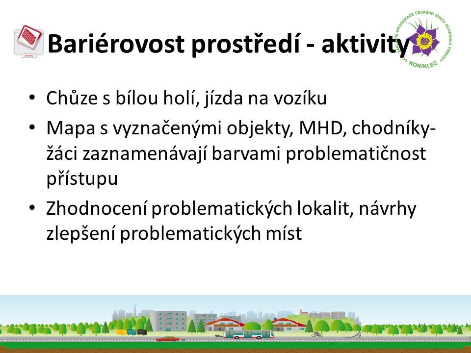 Bariérovost prostředí - aktivity