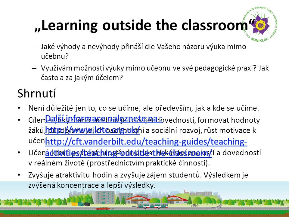 """Learning outside the classroom"