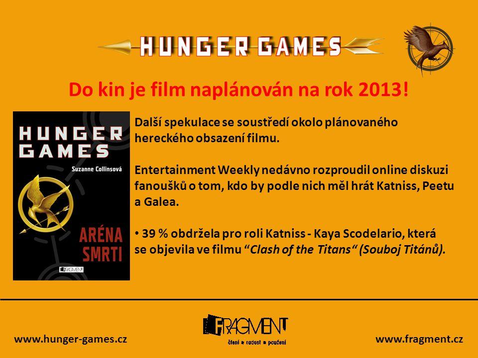 Do kin je film naplánován na rok 2013!