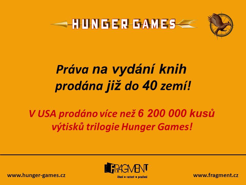 V USA prodáno více než 6 200 000 kusů výtisků trilogie Hunger Games!