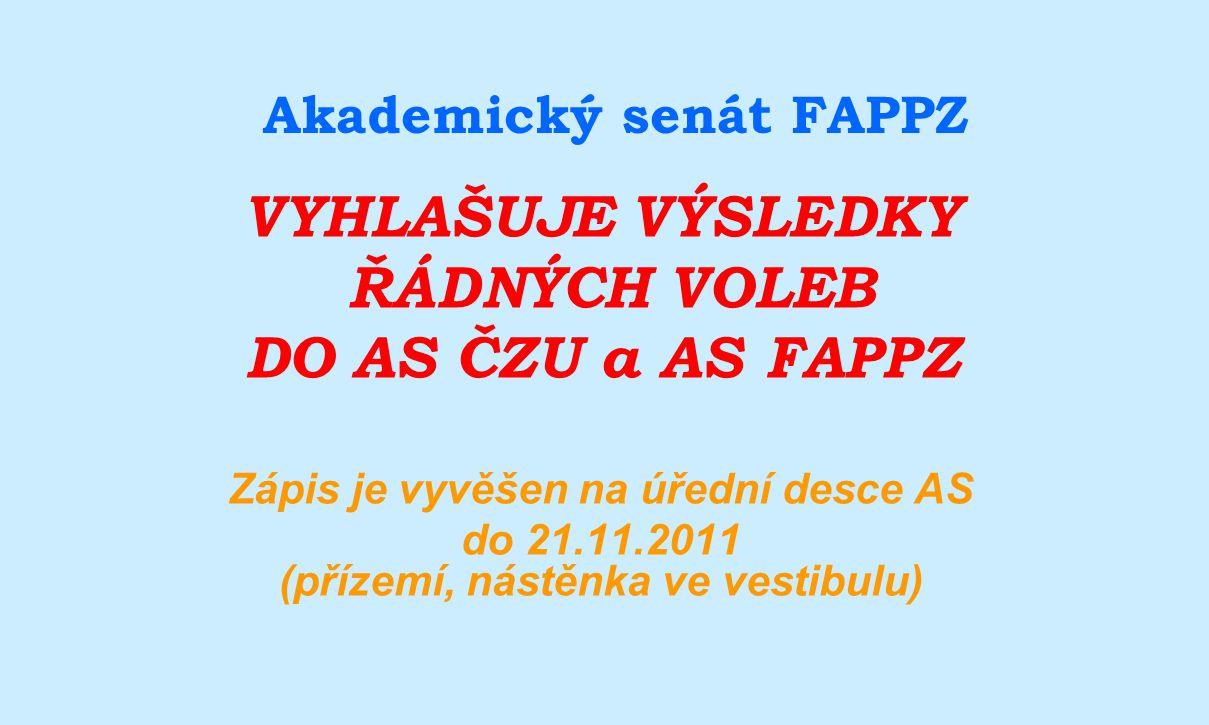 Akademický senát FAPPZ
